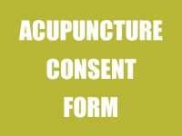 Acupuncture Consent Form