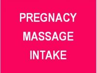 Massage Preg Intake